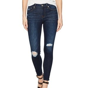 7 For All Mankind Ankle Gwenevere Distressed Jeans